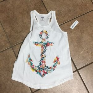 Girls racerback top old navy NWT!